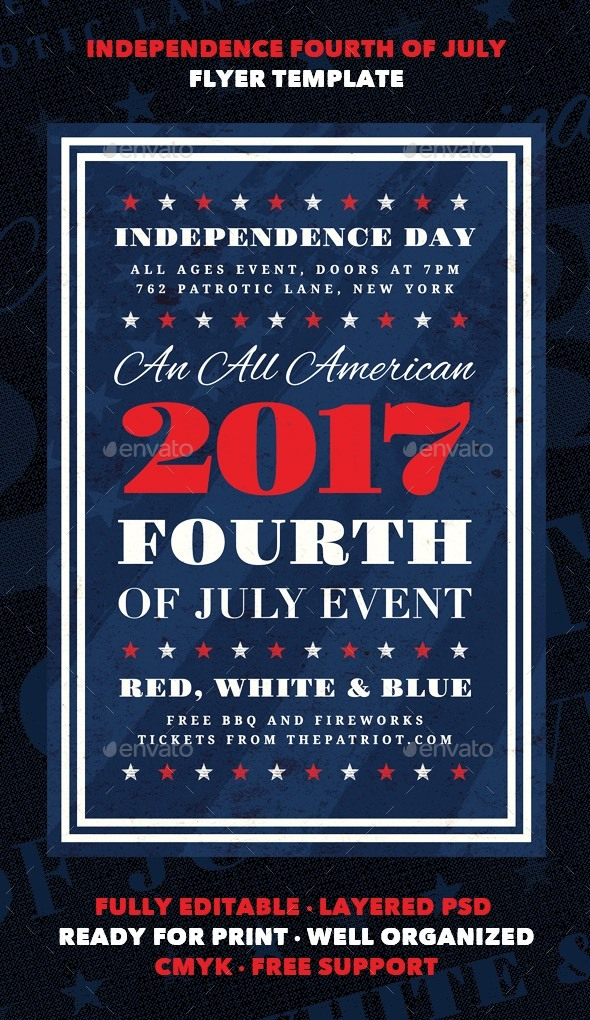 Independence - Fourth of July Flyer Template - Holidays Events