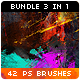 42 Watercolor Splatter Paint Photoshop Brushes Bundle - GraphicRiver Item for Sale
