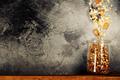 Flying breakfast against grey wall - PhotoDune Item for Sale