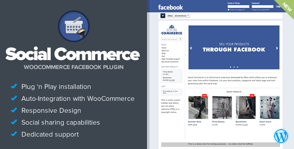 Social Commerce - WooCommerce Facebook Tab - CodeCanyon Item for Sale
