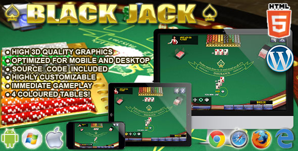 HTML5 3D BlackJack - HTML5 Casino Game - CodeCanyon Item for Sale