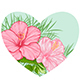 Tropical Floral Heart - GraphicRiver Item for Sale