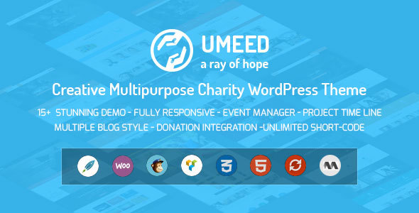 Umeed Charity WordPress Theme For Fundraising