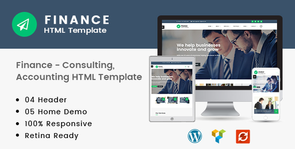 Finance - Consulting, Accounting HTML Template - Business Corporate
