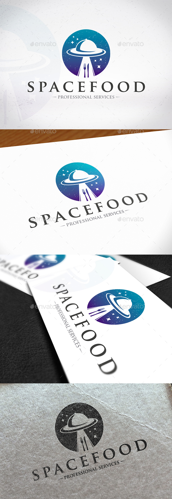 Ufo Food Logo Template - Objects Logo Templates