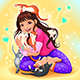 Girl Embraces a Lot of Kitties - GraphicRiver Item for Sale
