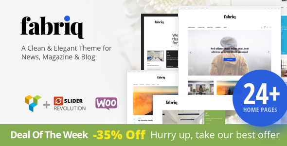 Fabriq - Personal WordPress Blog Theme - Blog / Magazine WordPress