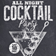 Cocktail Party Chalk flyer - GraphicRiver Item for Sale