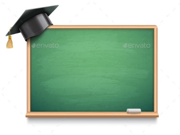 School Board and Graduation Cap - Man-made Objects Objects