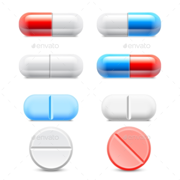 Medicine Pills Collection - Health/Medicine Conceptual