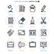 Working Line Icon Set - GraphicRiver Item for Sale