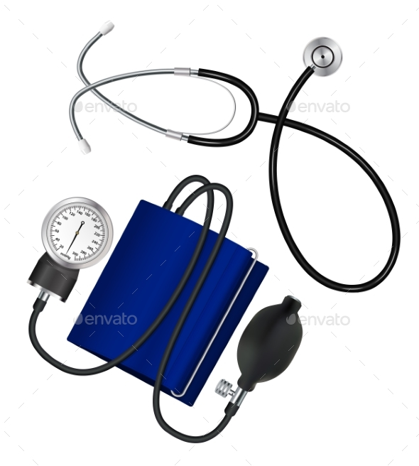 Phonendoscope and Tonometer Medical Set - Health/Medicine Conceptual