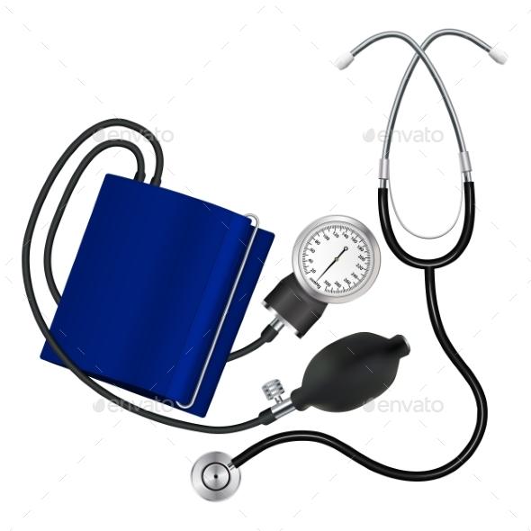 Tonometer and Phonendoscope Medical Instruments - Health/Medicine Conceptual