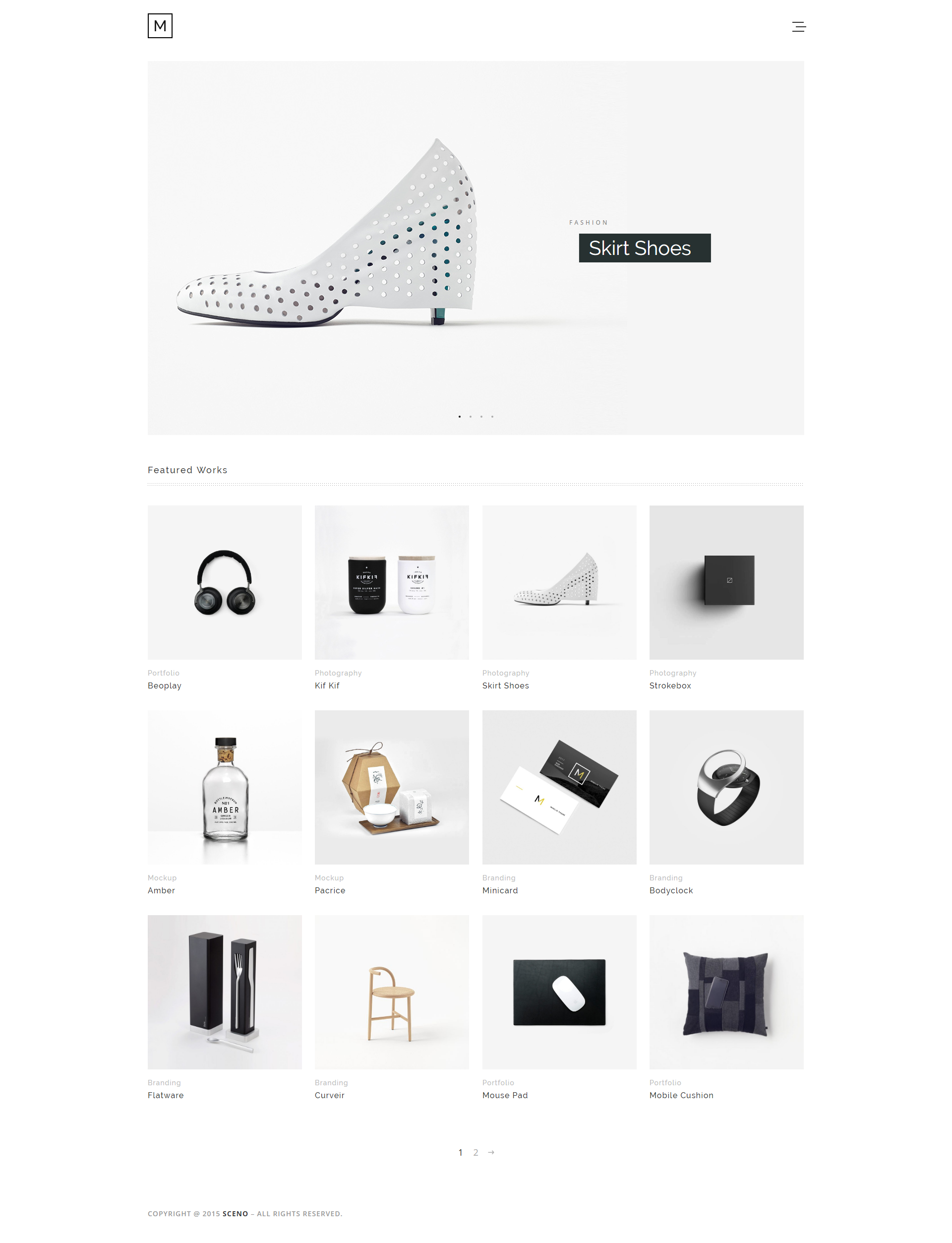 Minilio minimalist multi purpose wordpress theme by for Minimalist homepage