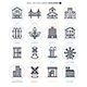 Buildings Line Icon Set - GraphicRiver Item for Sale