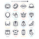 Accessories Line Icon Set - GraphicRiver Item for Sale