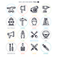 Work Tools Line Icon Set - GraphicRiver Item for Sale