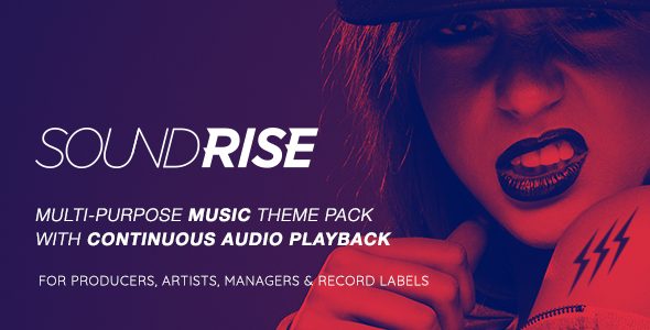 SoundRise - Artists, Producers and Record Labels WordPress Theme - Music and Bands Entertainment