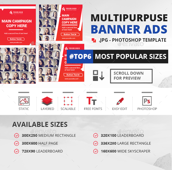 Modern Web Banner Templates - Banners & Ads Web Elements