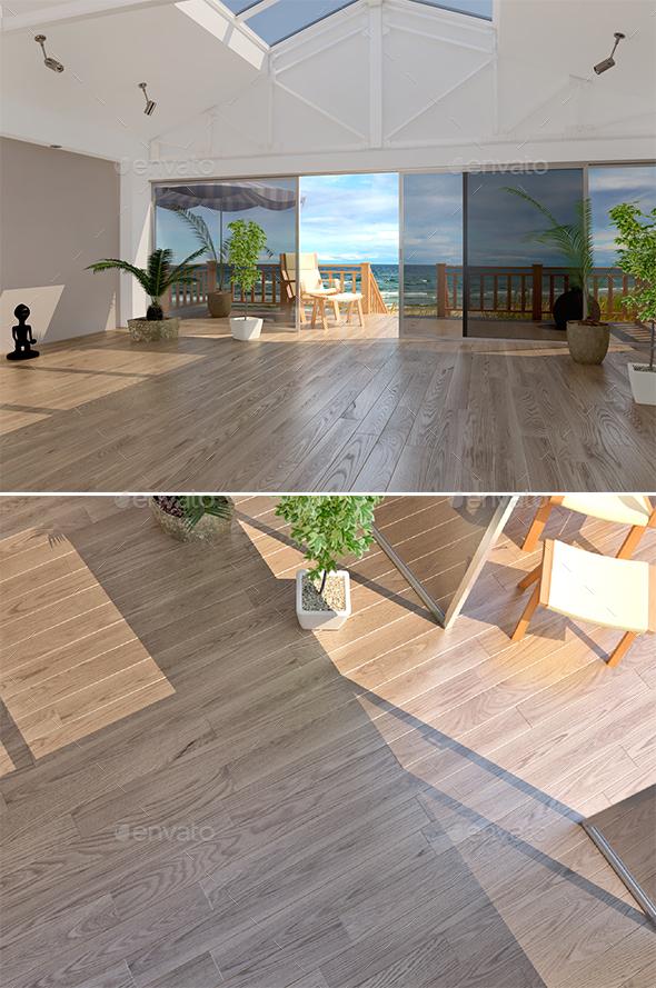 33 Lauzon Oak Natural - Flooring - 3DOcean Item for Sale