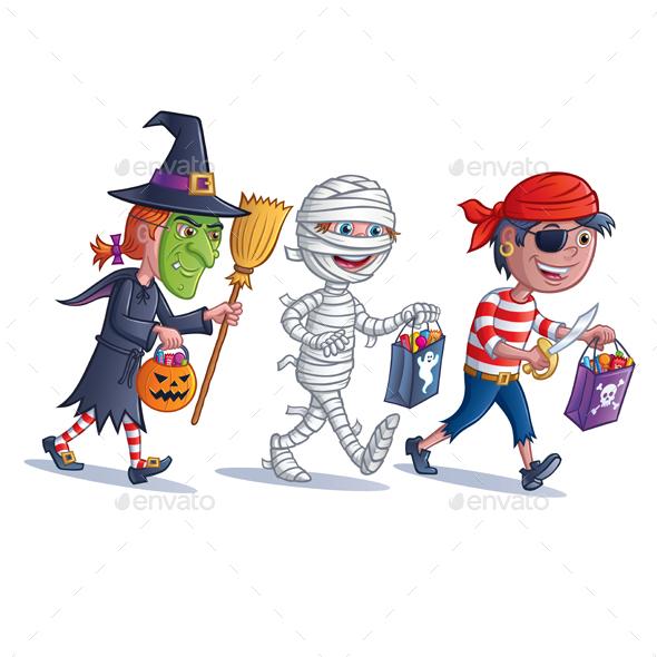 Trick or Treater Kids - Halloween Seasons/Holidays