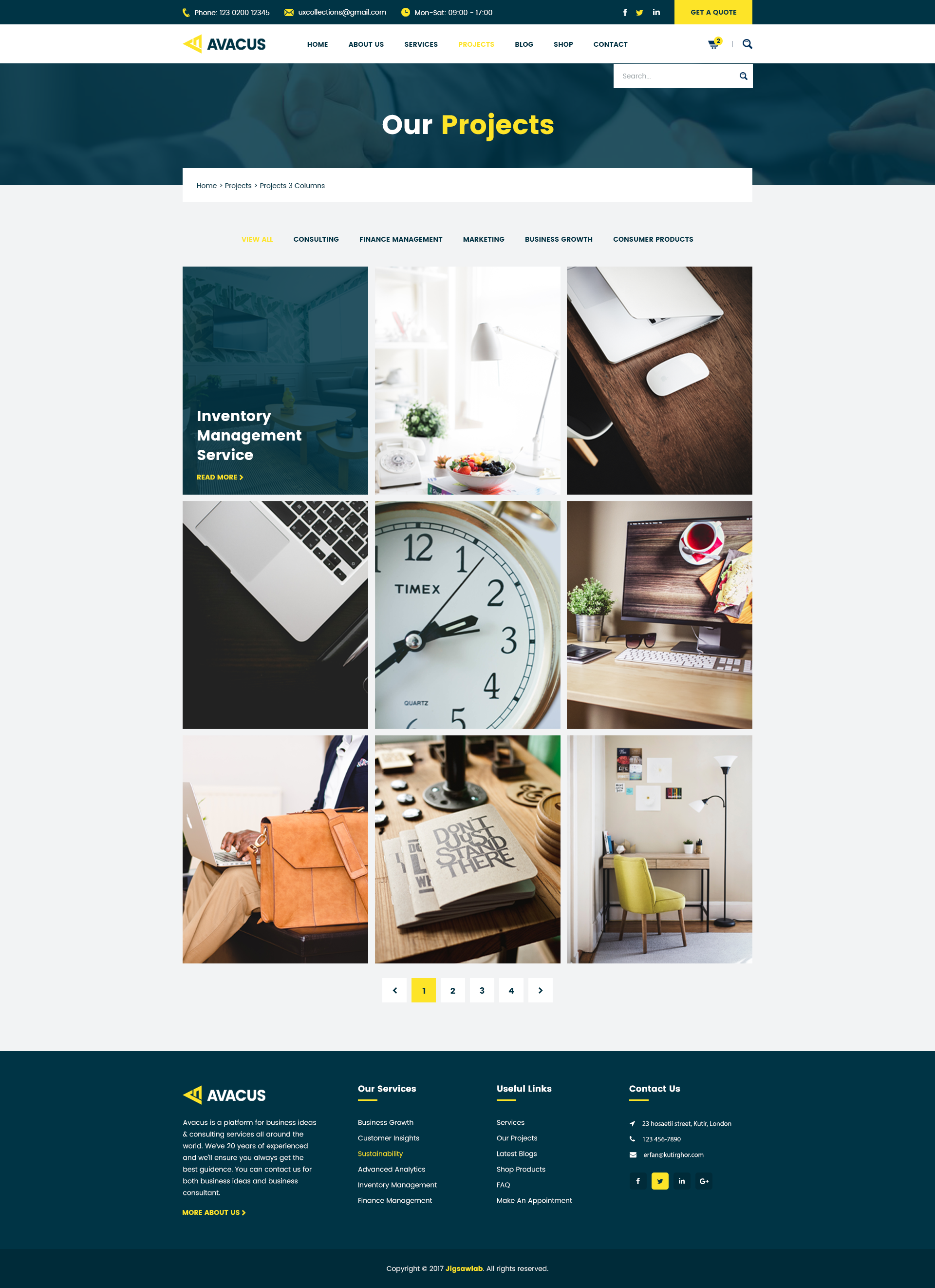 Technology Management Image: Business Consulting And Agency Services HTML5