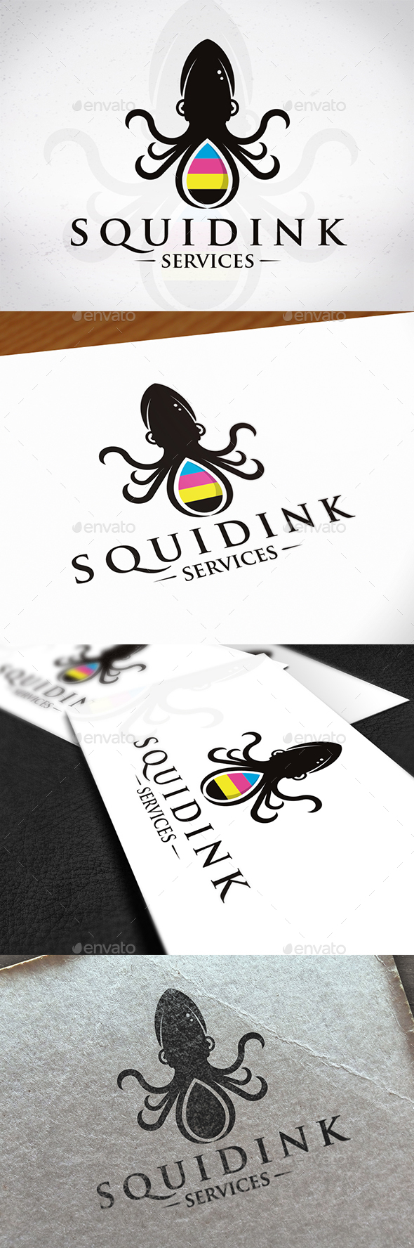 Squid Ink Logo Template - Animals Logo Templates
