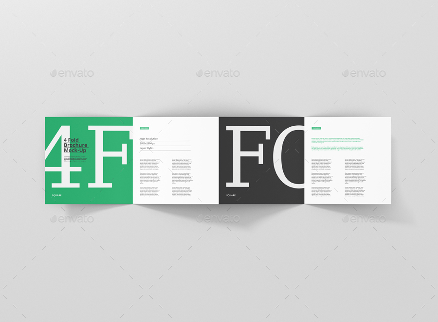 4 fold brochure mockup square by visconbiz graphicriver
