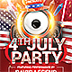 4th of July Party Flyer v2 - GraphicRiver Item for Sale