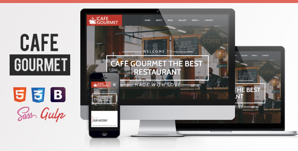 Image of Cafe Gourmet | Bar & Restaurant Theme