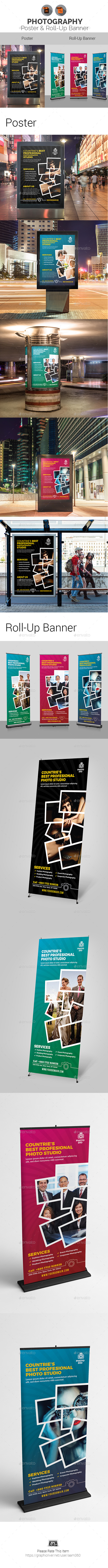 Photography Poster & Roll-Up Banner Template Bundle - Signage Print Templates