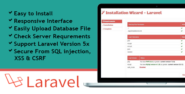 Installation Wizard - Laravel - CodeCanyon Item for Sale