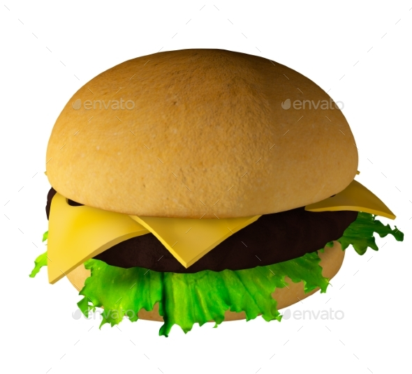 The Perfect Hamburger 3D Render - Objects 3D Renders