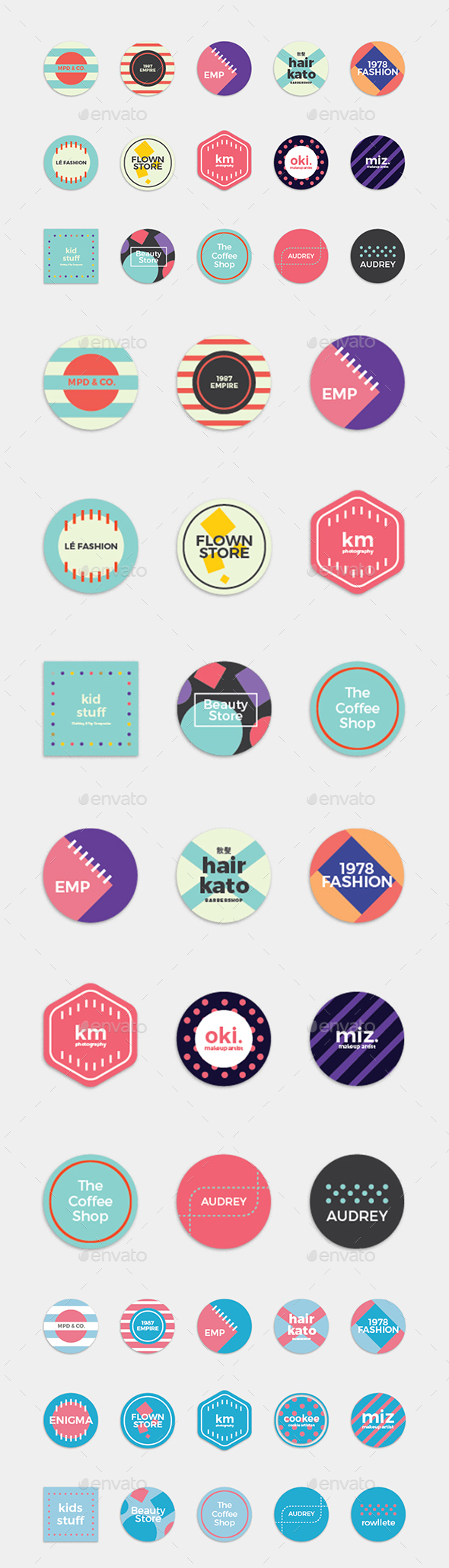 Simple Circle Badge Set - Badges & Stickers Web Elements
