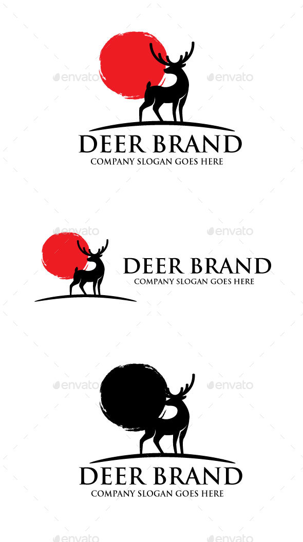 Deer Brand Logo - Animals Logo Templates