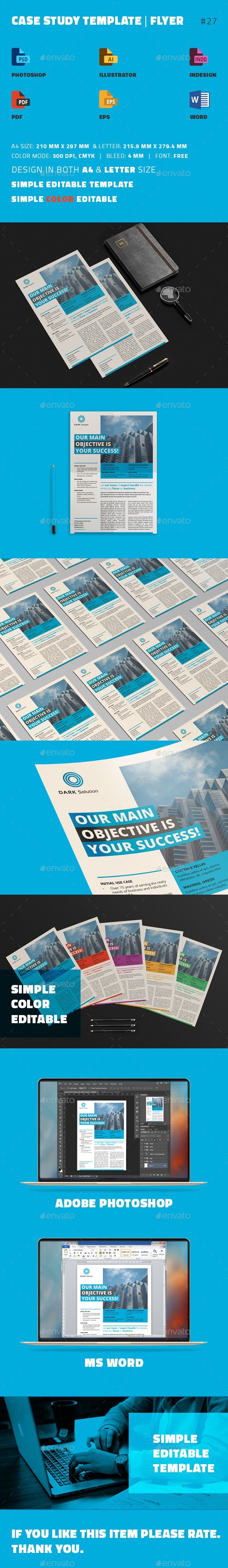 Case Study Template | Flyer by sanlife | GraphicRiver