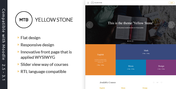 Download YellowStone - Premium moodle theme nulled version