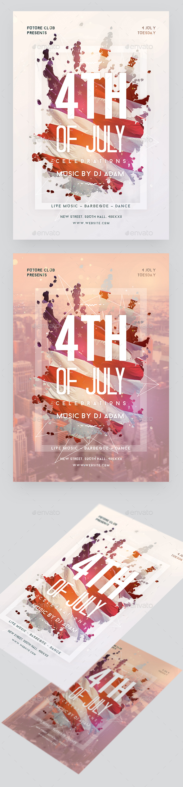 4th of July Celebration Flyer - Clubs & Parties Events