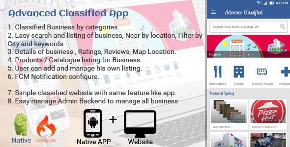 Advance Classified Search Engine App + Web - CodeCanyon Item for Sale