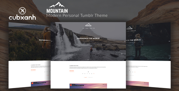 Mountain - Modern Personal Tumblr Theme