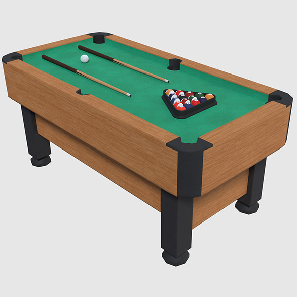 Pool Table - Game Ready - 3DOcean Item for Sale