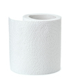 Half of white toilet paper roll