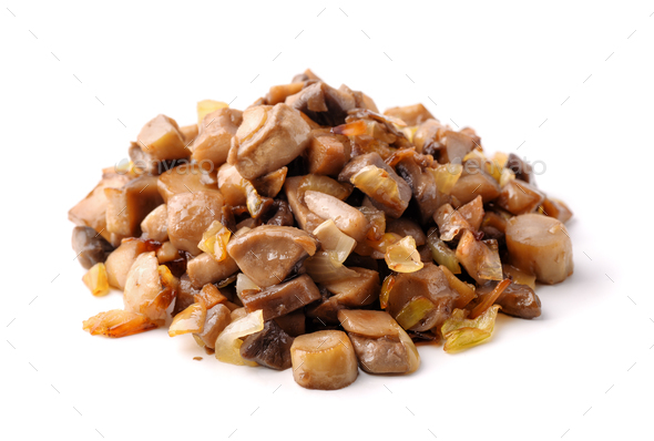 Pile of roasted mushrooms - Stock Photo - Images
