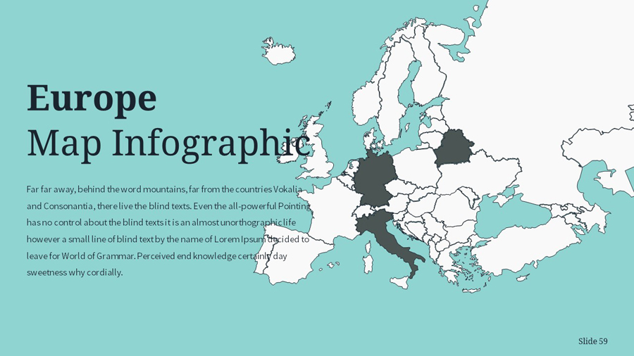 Colour Simple Creative Unique Keynote Template By Inspirasign - World map no colour