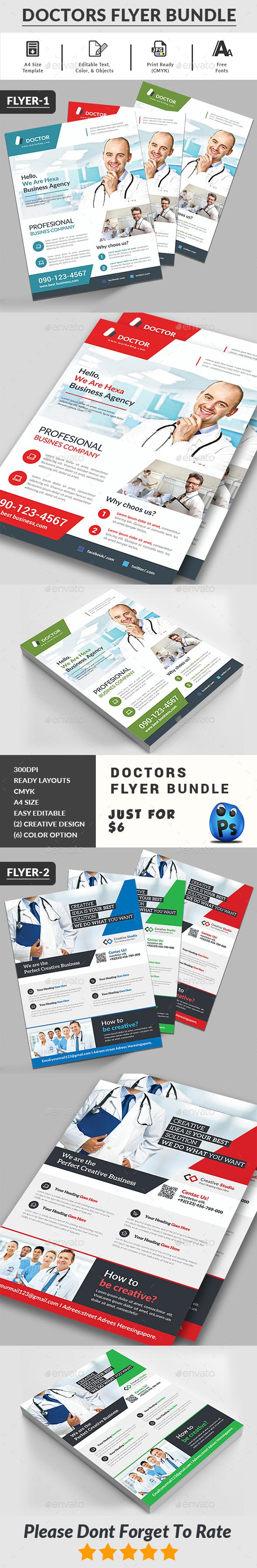 Doctors Flyers Bundle Templates - Corporate Flyers