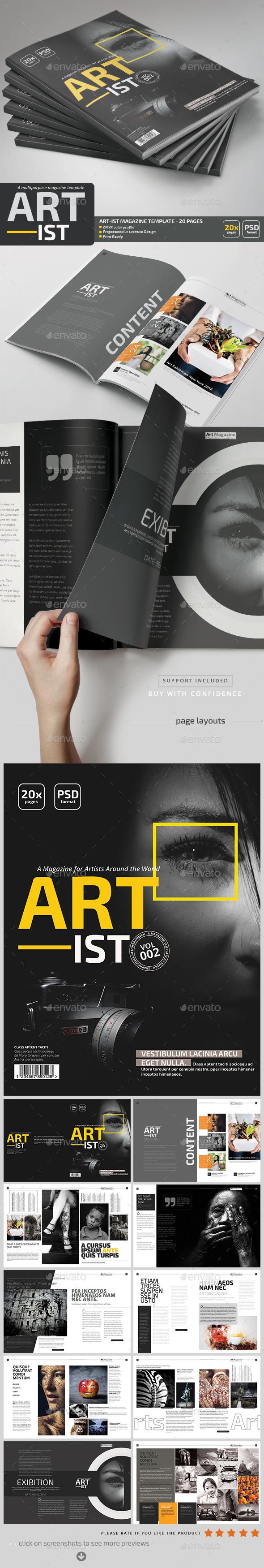 Art-ist Magazine Template V.2 - Magazines Print Templates