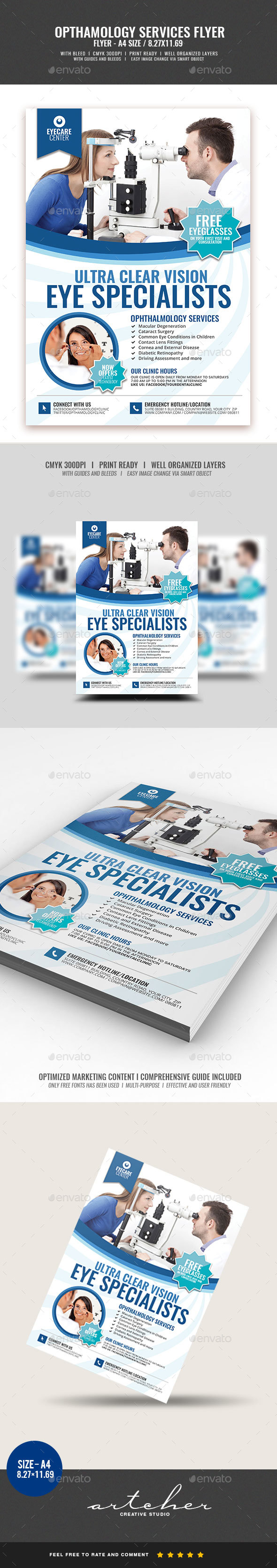 Eye Ophthalmology Services Flyer - Corporate Flyers