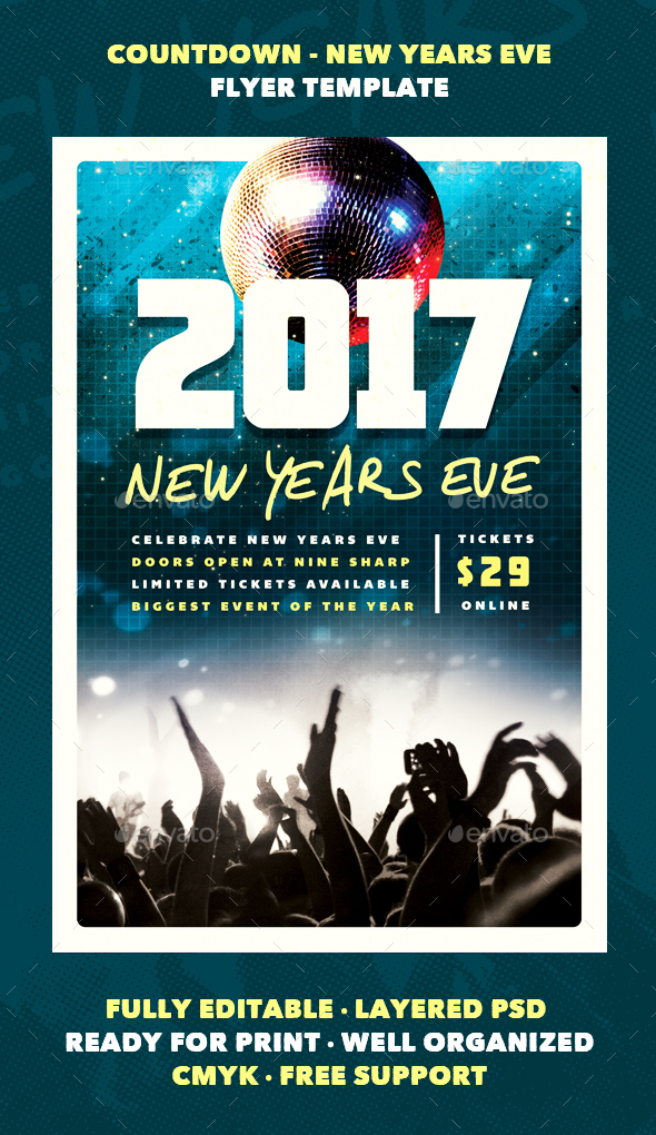 Countdown - New Years Eve Flyer Template - Events Flyers