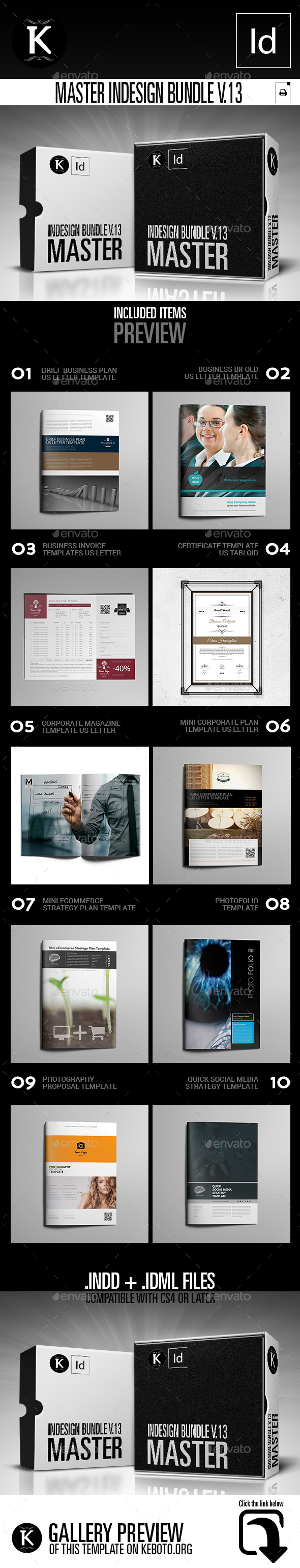Master inDesign Bundle v.13 - Print Templates