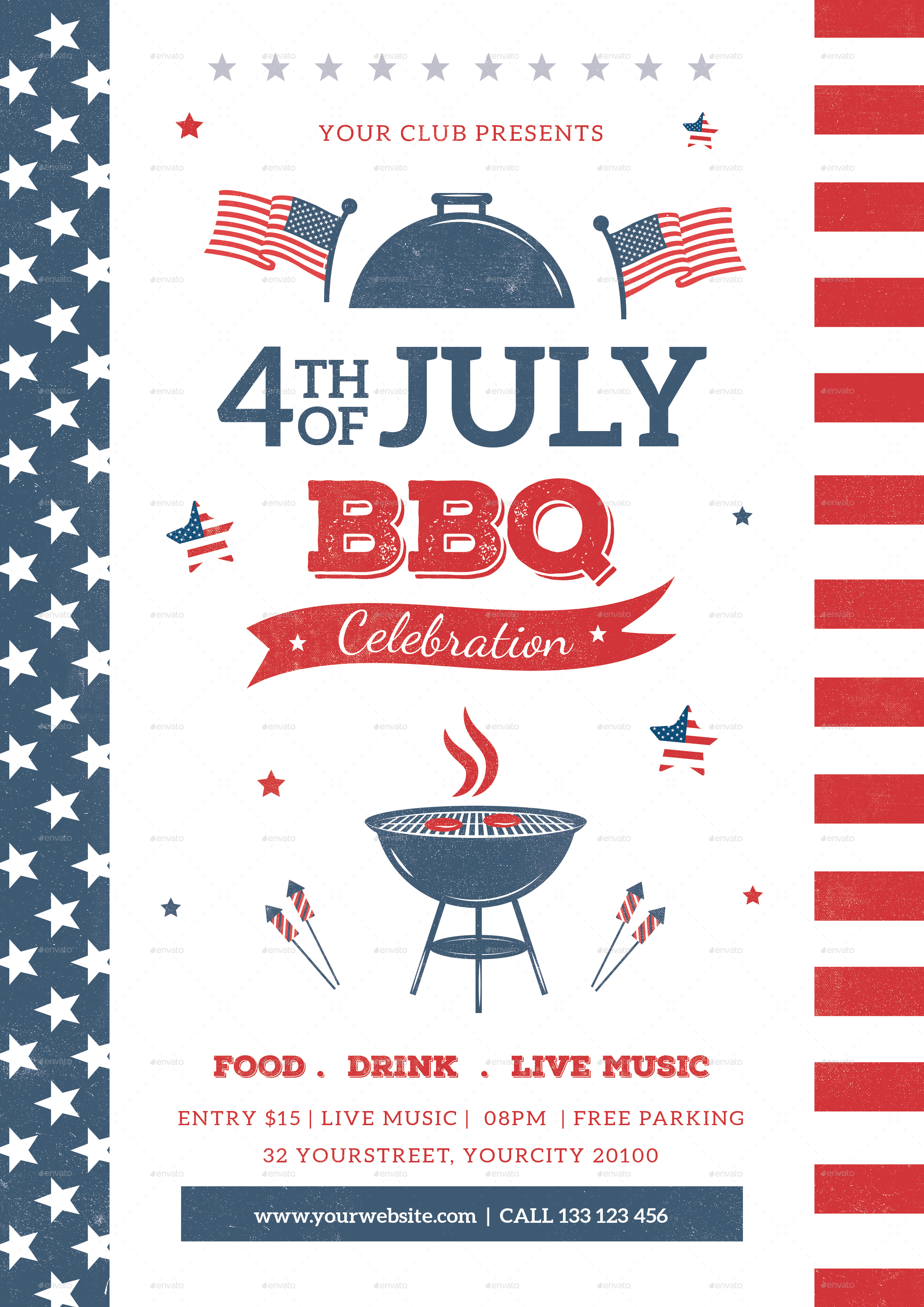 4th of july bbq flyer by infinite78910